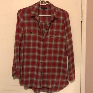 Madewell soft plaid button up size small